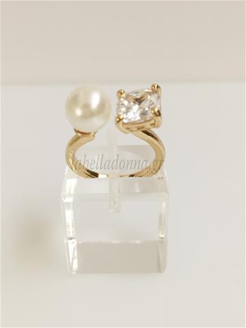 Γυναικείο δαχτυλίδι με πέρλα